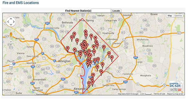 FEMS locations DCGIS map image