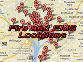Fire and EMS Locations Map
